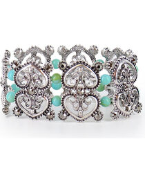 Shyanne® Women's Heart Bracelet  , Silver, hi-res