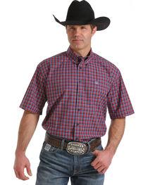 Cinch Men's Multi Single Pocket Short Sleeve Shirt, Multi, hi-res