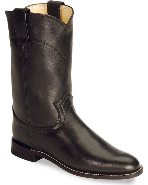 Justin Women's Spanish Kipskin Roper Boots, Black, hi-res