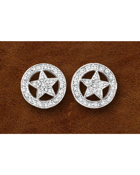 Kelly Herd Sterling Silver Western Star Earrings, Silver, hi-res