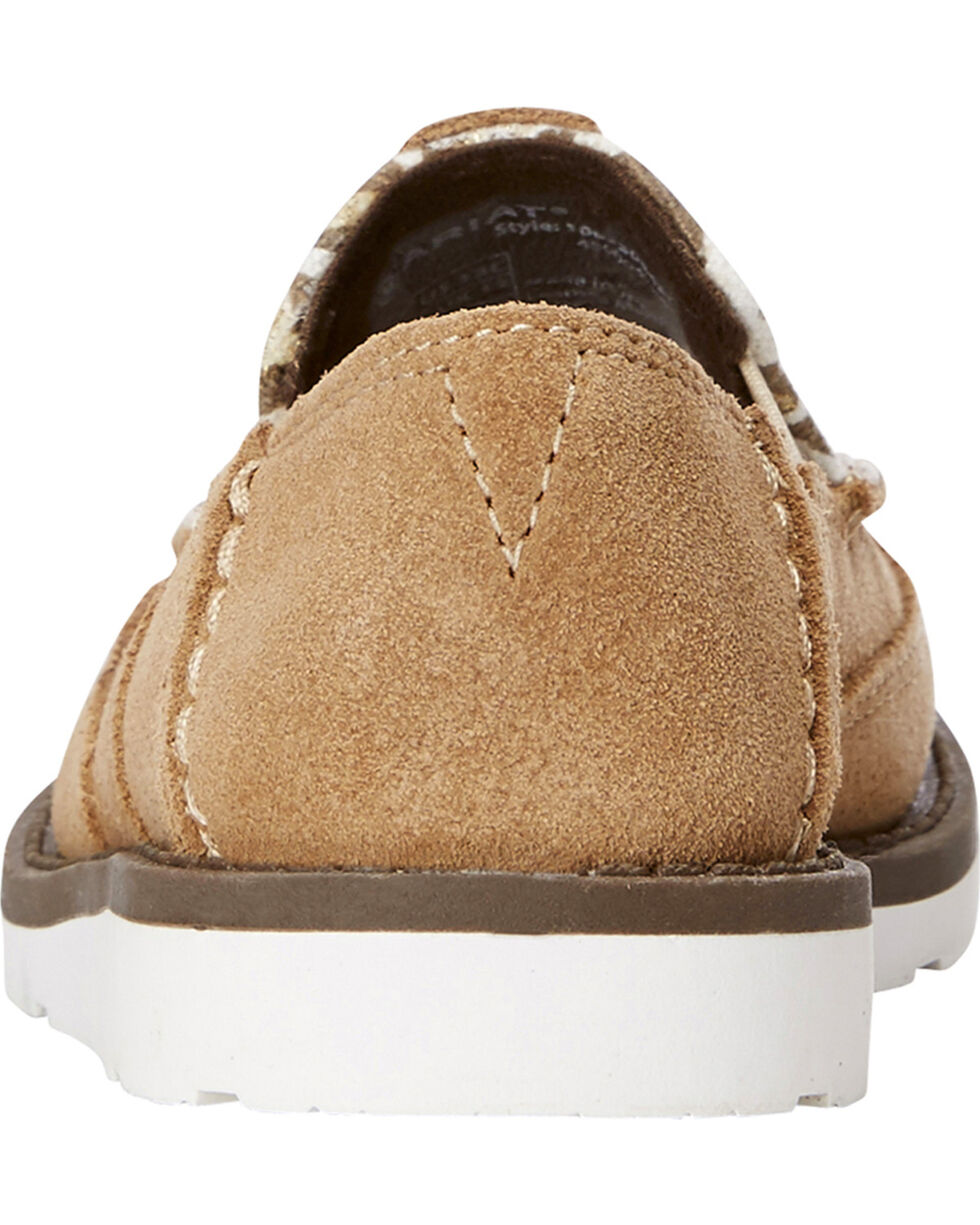 Ariat Girls' Taupe Cruiser Leopard Slip-On Shoes , Taupe, hi-res
