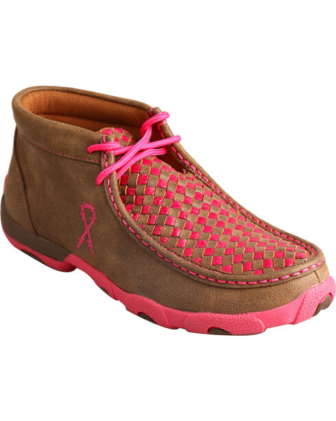 Twisted X Women's Lace-Up Driving Moccasins, Brown, hi-res