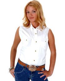 Roper Women's Stretch Poplin Sleeveless Shirt, , hi-res
