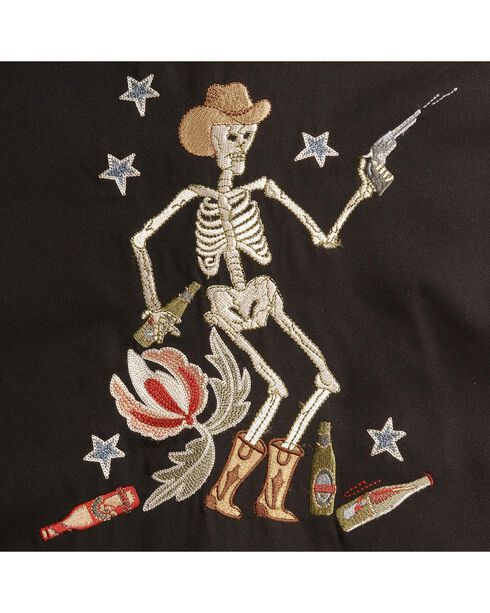 Scully Roses & Cowboy Skeleton Embroidered Retro Western Shirt - Big & Tall, , hi-res