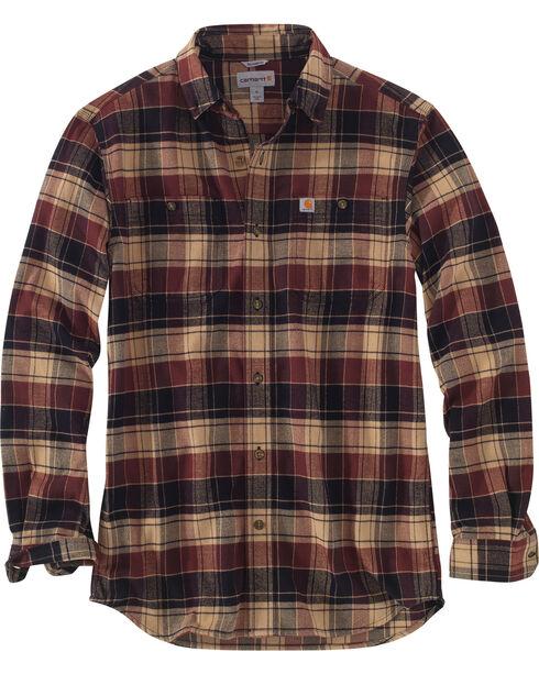 Carhartt Men's Trumbull Plaid Shirt , Beige/khaki, hi-res
