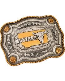 Cody James Dual Tone Montana Buckle, , hi-res