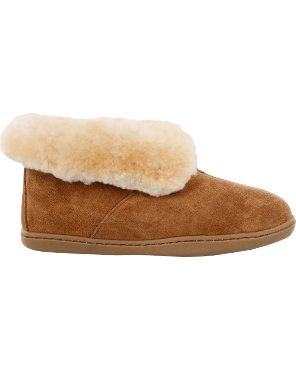 Minnetonka Women's Sheepskin Ankle Boots, Tan, hi-res