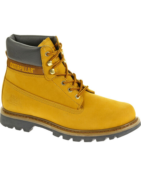 "Caterpillar Colorado 6"" Lace-Up Work Boots - Round Toe, Golden, hi-res"