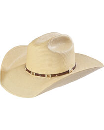 Larry Mahan Alamo Palm Star Concho Straw Cowboy Hat, , hi-res
