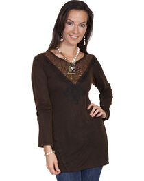 Scully Women's Embellished Lace Tunic, , hi-res