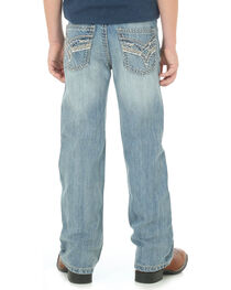 Wrangler Rock 47 Boys' Blue Country Slim Jeans - Boot Cut , , hi-res