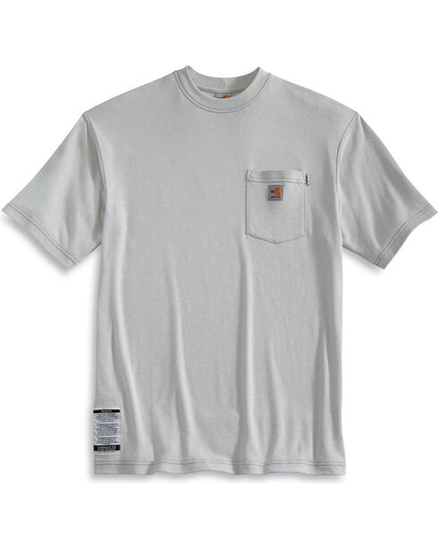 Carhartt Flame Resistant Short Sleeve T-Shirt - Big, Grey, hi-res