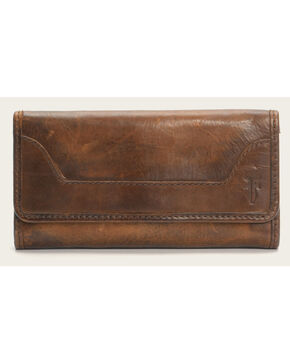 Frye Women's Melissa Wallet , Dark Brown, hi-res