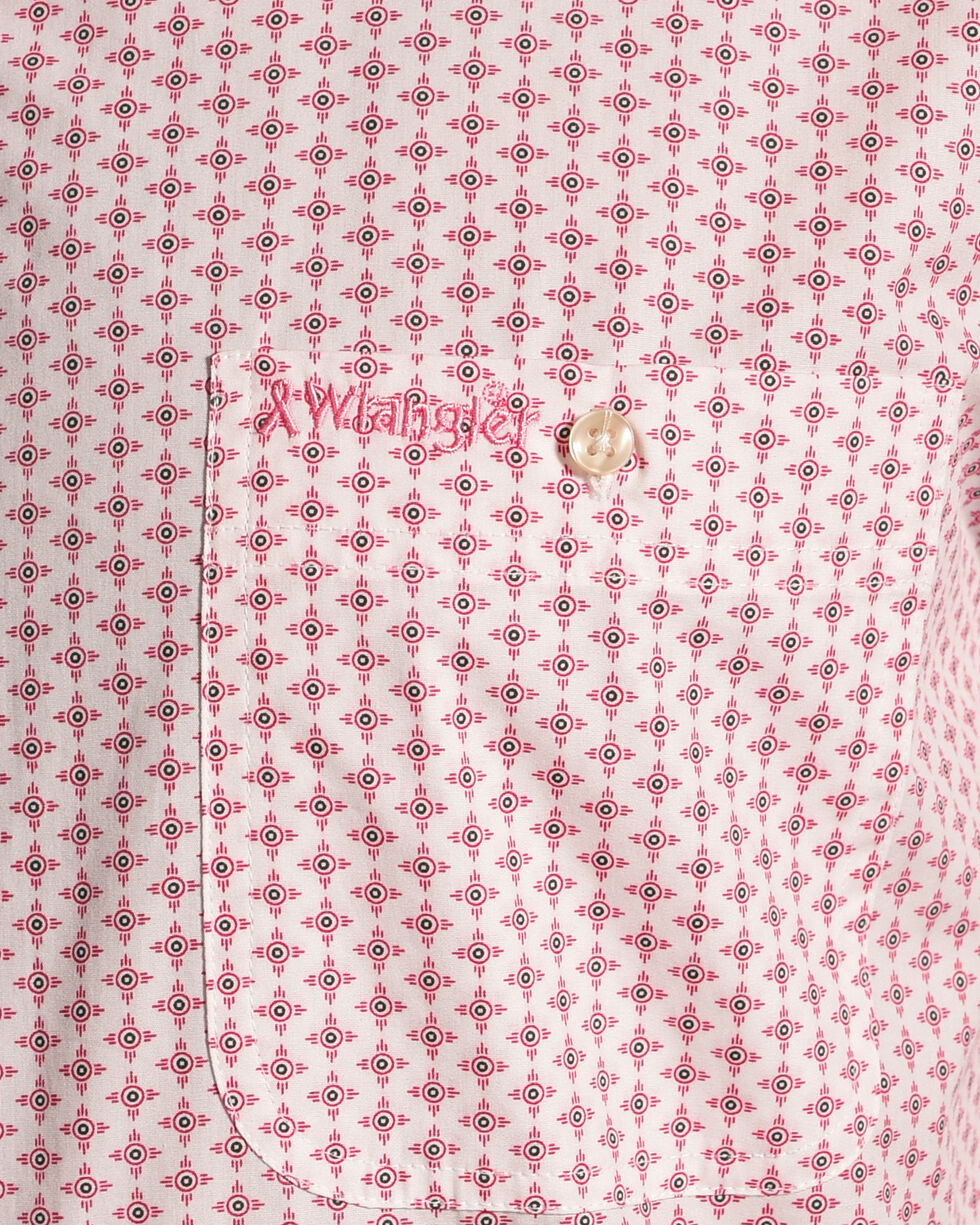 Wrangler Men's Tough Enough To Wear Pink Print Shirt , Pink, hi-res