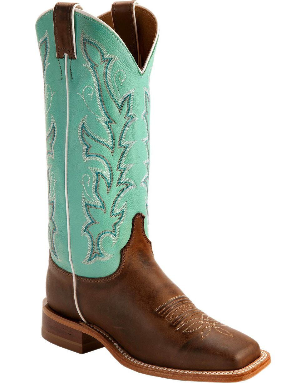 "Justin Women's 13"" Bent Rail Western Boots, Chocolate, hi-res"