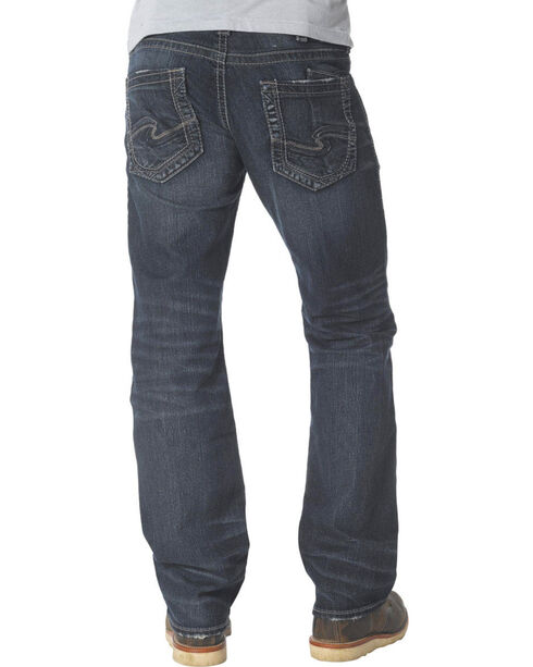 Silver Men's Zac Straight Leg Jeans, Dark Stone, hi-res