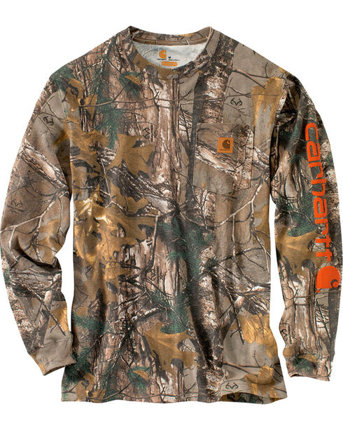 Carhartt Men's Graphic Camo Long Sleeve Shirt, Camouflage, hi-res