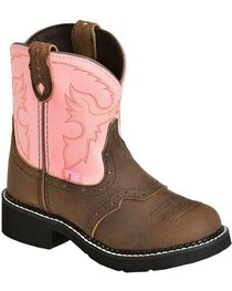 """Justin Children's Gypsy Cowgirl 6"""" Boots, , hi-res"""