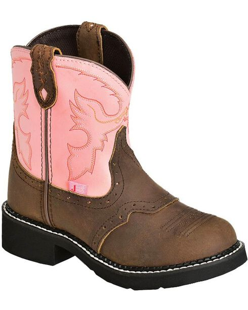"Justin Children's Gypsy Cowgirl 6"" Boots, Bay Apache, hi-res"