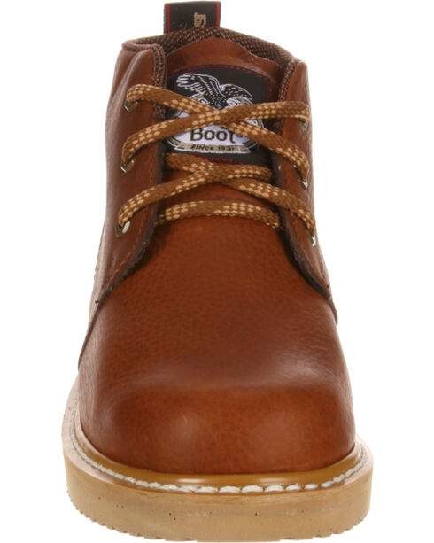 Georgia Men's Farm & Ranch Chukka Work Boots, Brown, hi-res