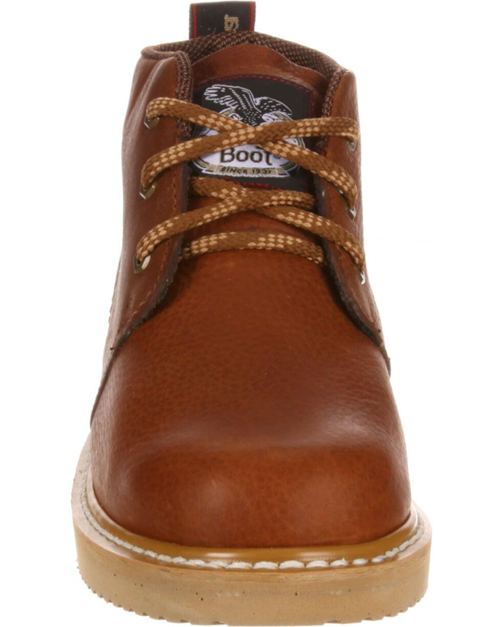 Georgia Men's Farm & Ranch Chukka Work Boots, Brown, hi-res