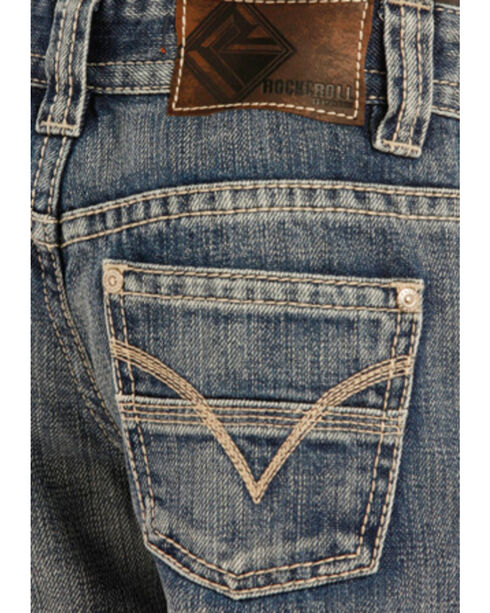 "Rock & Roll Cowboy Boys' Flying ""V"" Jeans - Boot Cut , Indigo, hi-res"