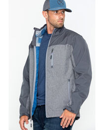 Cody James Men's Flannel Lined Softshell Jacket, , hi-res