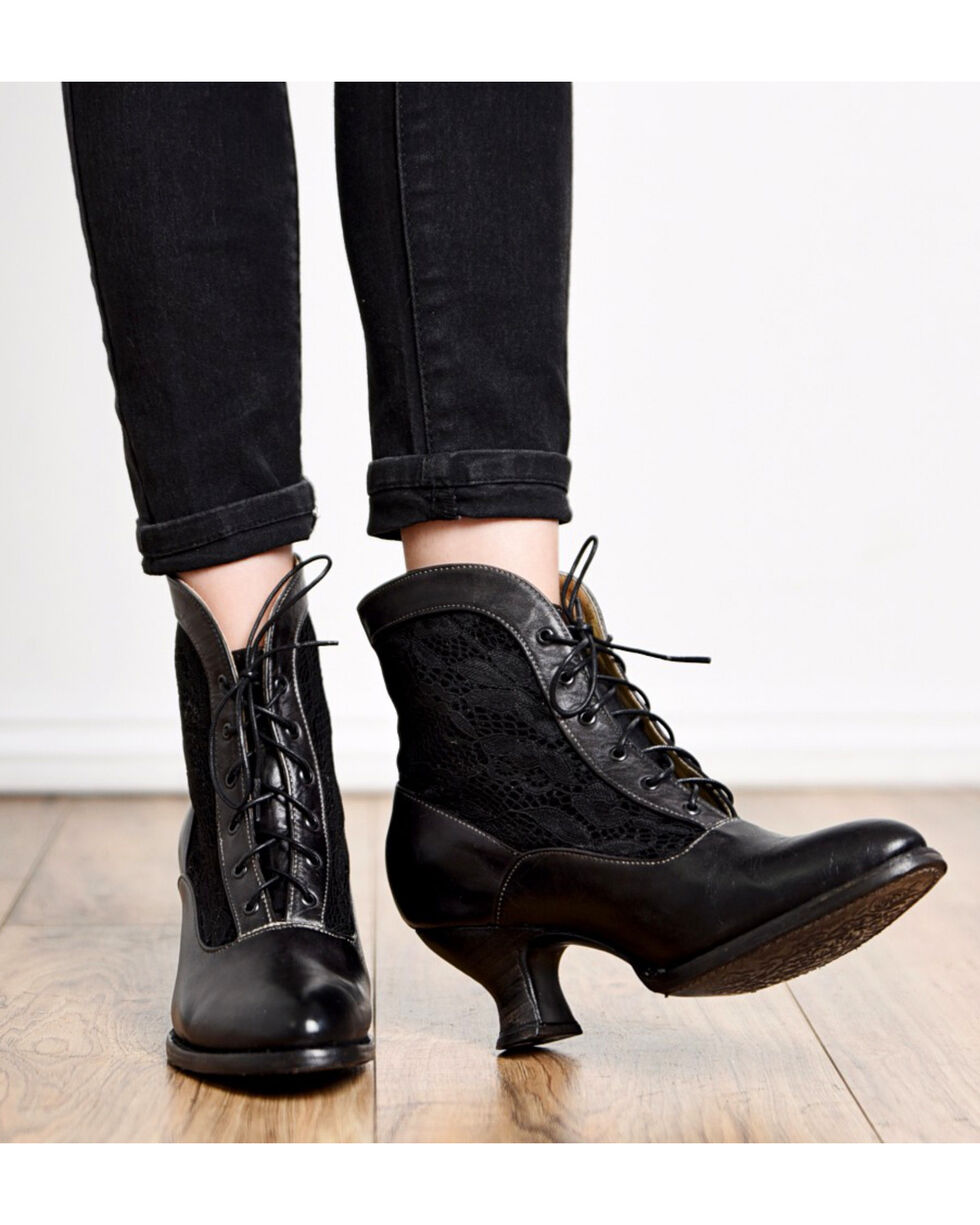 Oak Tree Farms Jacquelyn Black Boots - Medium Toe, Black, hi-res