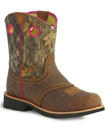 Ariat Fatbaby Cowgirl Kids Western Boots, , hi-res