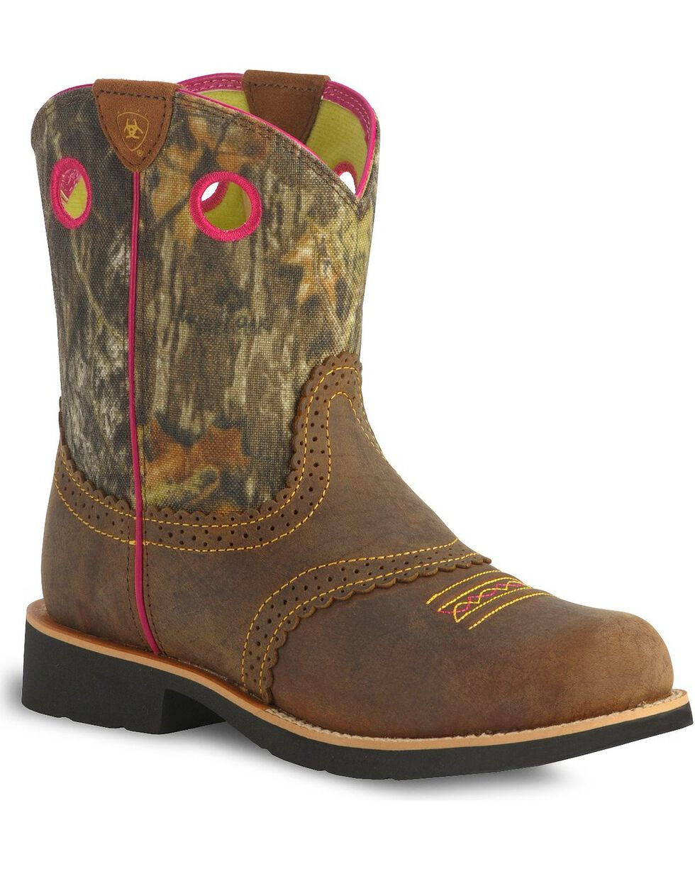 Ariat Fatbaby Cowgirl Kids Western Boots, Brown, hi-res