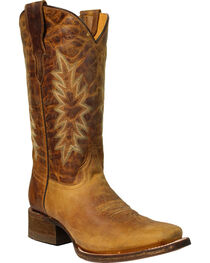 Coral Girls' Vintage Honey Cowgirl Boots - Square Toe, , hi-res
