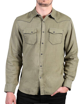 Cody James®  Men's Solid Long Sleeve Shirt , Olive, hi-res