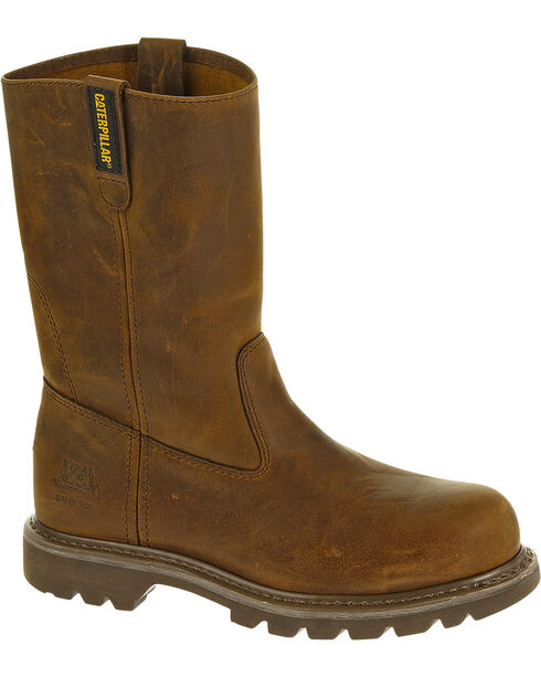 CAT Women's Revolver Steel Toe Work Boots, Brown, hi-res