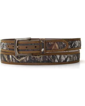 Nocona Double Stitched Mossy Oak Belt - Large, Mossy Oak, hi-res