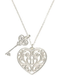 """Montana Silversmiths """"Holding the Key to My Heart"""" Double Charm Necklace, , hi-res"""