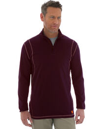 Wrangler 20X Flame Resistant Quarter-Zip Long Sleeve Pullover, , hi-res
