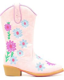 Blazin Roxx Girls' Daisy Floral Embroidered Cowgirl Boots - Snip Toe, , hi-res