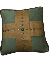 HiEnd Accents Las Cruces II Studded Cross Pillow, , hi-res