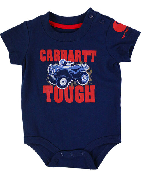Carhartt Infant Boys' Tough Onesie, Navy, hi-res