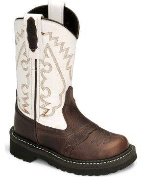 Old West Childrens' Thunder Rust Cowboy Boot, Brown, hi-res