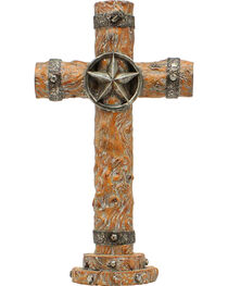 Western Moments Resin Wood Star Table Cross, , hi-res