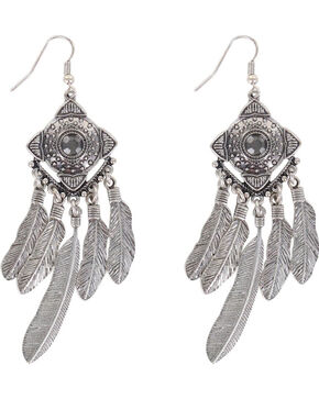 Shyanne® Women's Concho Dreamcatcher Earrings , Silver, hi-res