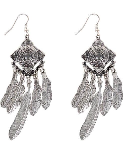 Shyanne® Women's Concho Dreamcatcher Earrings , Silver, hi-res