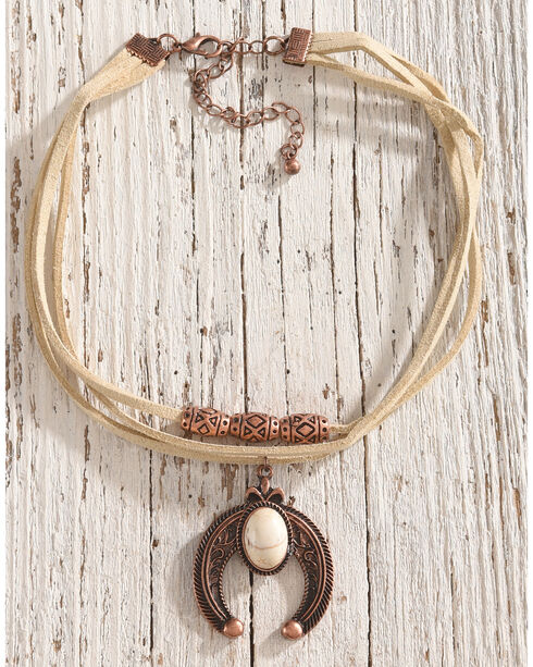 Shyanne® Women's Squash Blossom Choker Necklace, Rust Copper, hi-res