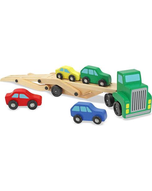 Melissa & Doug Kids' Wooden Car Carrier Toy Set, No Color, hi-res