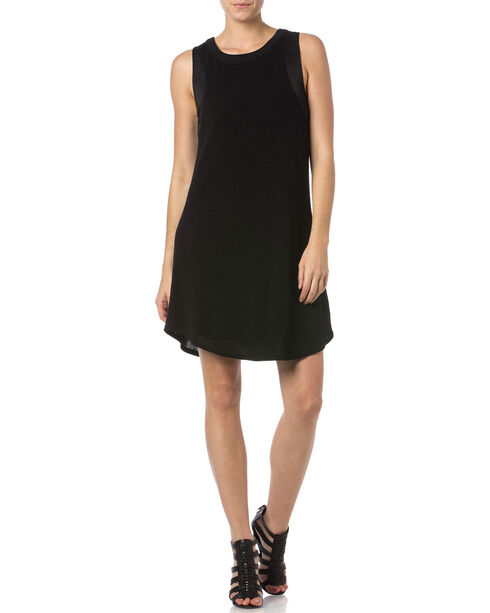 Miss Me Sleeveless Little Black Dress, Black, hi-res