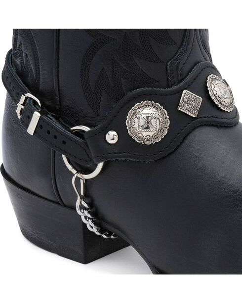 Scalloped Boot Harness, Black, hi-res