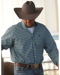Cinch Men's Small Scale Plaid Western Shirt, , hi-res