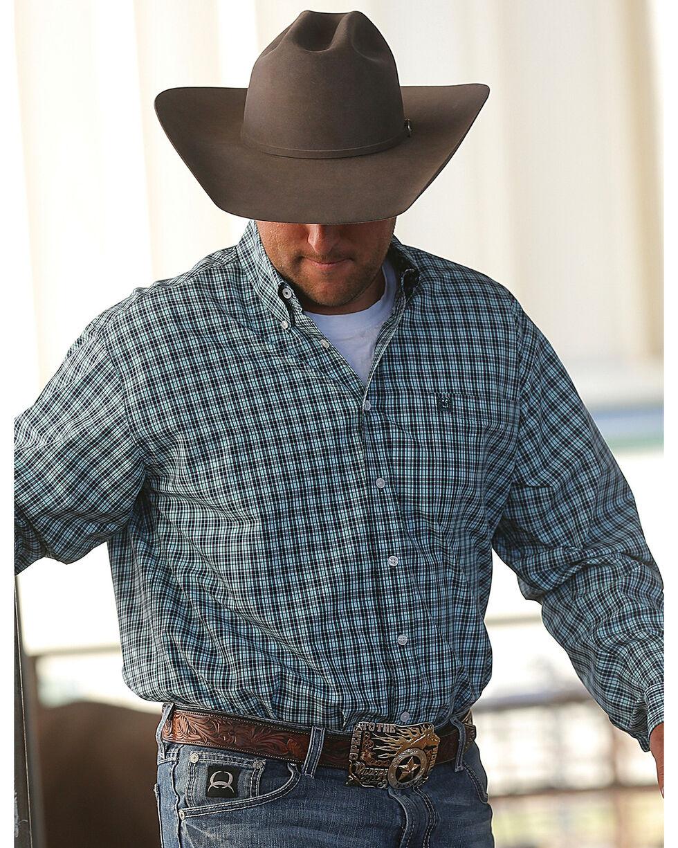 Cinch Men's Small Scale Plaid Western Shirt, Multi, hi-res