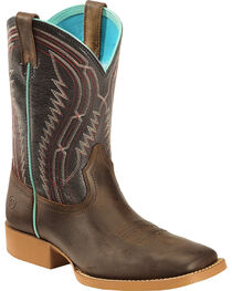 Ariat Kid's Brown Chute Boss Boots - Wide Square Toe, , hi-res